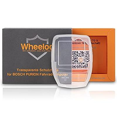 Wheeloo Transparente Schutzhülle für Bosch Purion Bedieneinheit 100% Durchsichtig I Schutz gegen Kratzer & Wasser I E-Bike Displayschutz