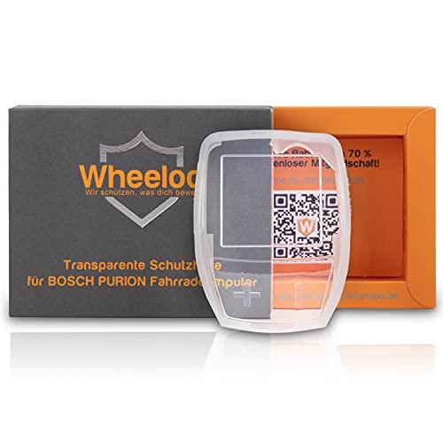 Wheeloo Transparente Schutzhülle für Bosch Purion Bedieneinheit 100{40ecdbc6b3bc6fb755e1356493c3f0d63ff8529e1675ac4b9d364c778f38ac25} Durchsichtig I Schutz gegen Kratzer & Wasser I E-Bike Displayschutz