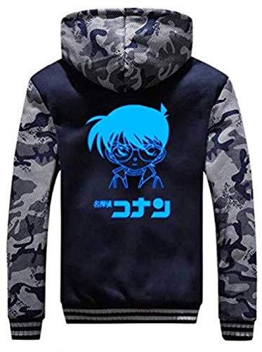 Bkckzzz Detektiv Conan Anime personalisierte nervöse Kunst Hoodie Jacke Unisex Cosplay Leuchtend verdicken Sweatshirt Mantel Strickjacke @ M_1