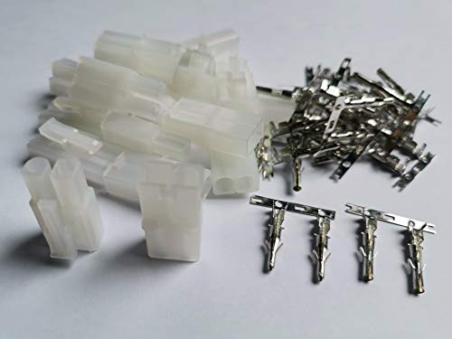 MR-Onlinehandel ® 10 Paar (20 Stück) Tamiya kompatible Stecker + Buchse - Crimp Set