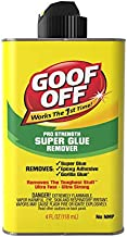 Goof Off FG678, Pro Strength Can, 4oz Super Glue Remover, Yellow