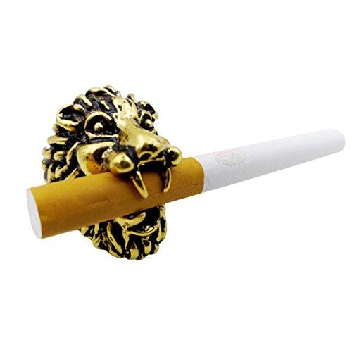 Fansport sigarettenhouder, rookhouder, sigarettenhouder, leeuwenkop voor het paardrijden, rijden, spelen, pc video vrij