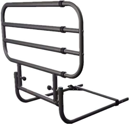 brazo FHW Soporte Ajustable de la Cama del Carril Stander, Cama Plegable Assist Manillar, Caja Guardia Lateral for Ancianos Metal barandilla de la Cama