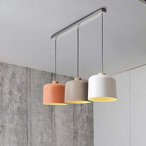 Lámpara Colgante Minimalista De Diseño Moderno Elegante Lámpara Colgante De 3 Llamas De Aluminio De Metal Regulable En Altura Sala De Estar Comedor Estudio Luz Interior Redonda Lámpara Colgante E27 M