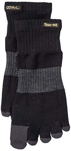 [アールエルソックス] 靴下 5本指メリノウールソックス Type-MS ランニング ウルトラマラソン トレイル対応 超立体製法 指先・かかと補強 MW-2001 ブラック L(26~28cm)