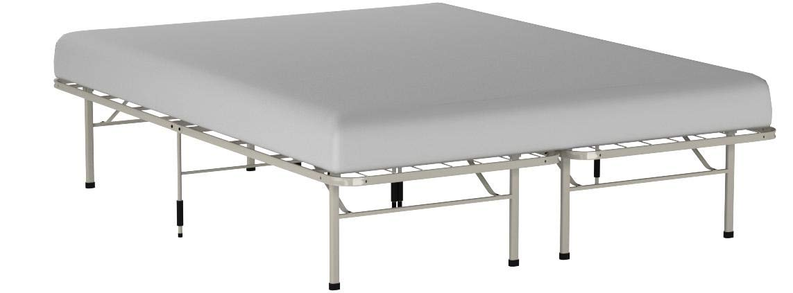Full Zinus 14 Inch SmartBase Mattress Foundation//Platform Bed Frame//Box Spring Replacement//Quiet Noise-Free//Maximum Under-bed Storage in Beige
