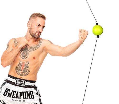 Reflex - Juego de pelotas de boxeo con ventosas y montaje en el techo, equipo de entrenamiento para el hogar