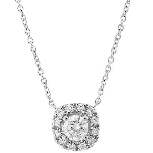 Orphelia Damen-Ketten mit Anhänger 18_k_(750) Weißgold Diamant KD-2028