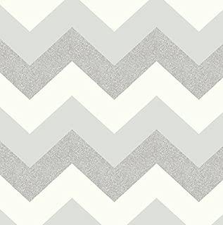 Glitterati Chevron Wallpaper Platinum Silver Arthouse 892302