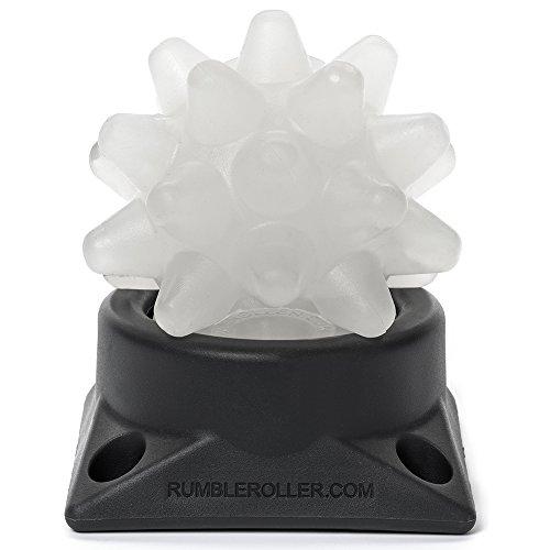 RumbleRoller BOA Original Beastie + Base Extra Firm Beastie Ball + Base, Clear