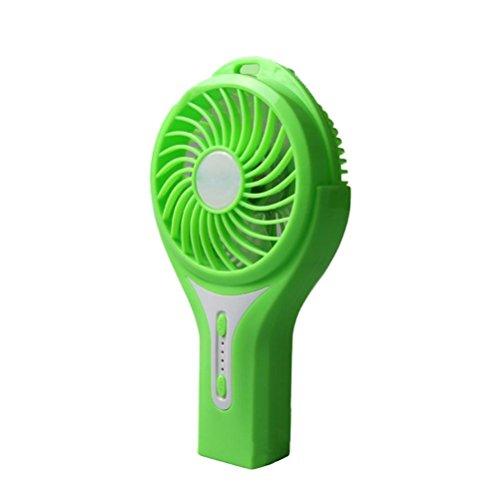 MFFACAI Ventilador pequeño de humidificación por pulverización, Ventilador de Escritorio Recargable USB, Ventilador Mini alumbrado de Escritorio para Estudiantes