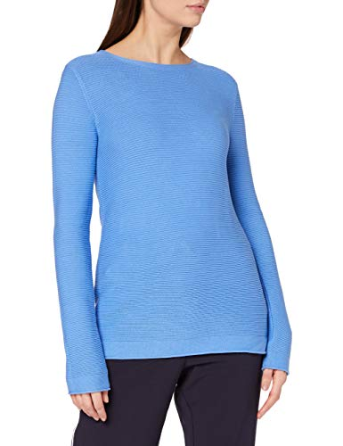 TOM TAILOR Damen Struktur Strickpullover Sweatshirt, 11139-Soft Charming Blue, S