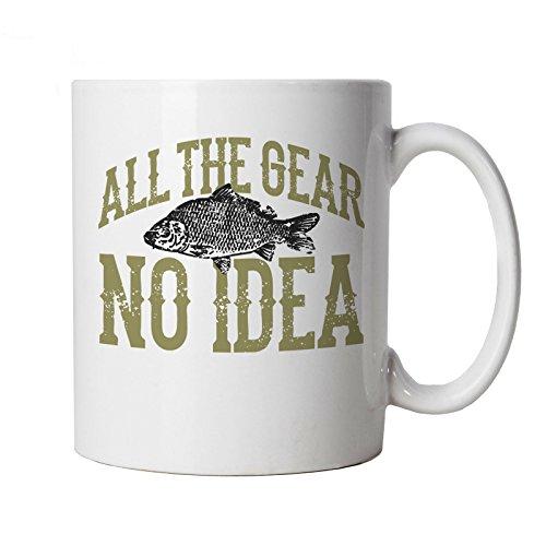 All The Gear No Idea, Funny Carp Fishing Mug