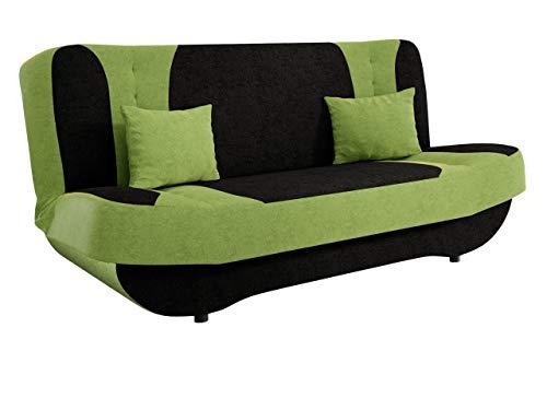 Mirjan24 Sofa Pinto mit Bettkasten und Schlaffunktion, Schlafsofa, Farb- und Materialauswahl, Wohnlandschaft, Couch vom Hersteller, Schlafcouch (Alova 04 + Alova 42.)