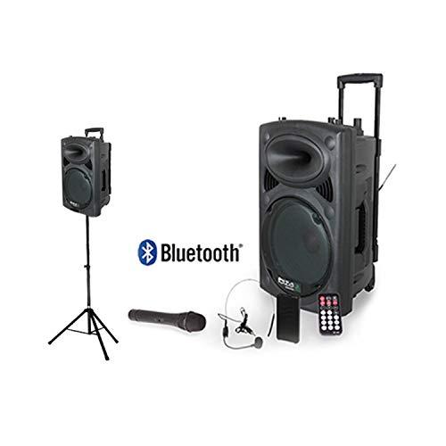 Port-12 VHF-BT - Sistema de karaoke móvil, 700W, con pie de micrófono