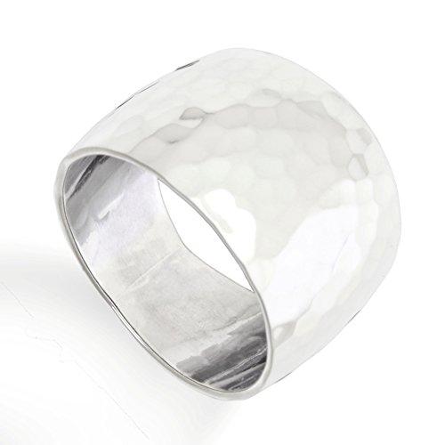 DUR: breiter gehämmerter Ring, Sterling-Silber 925 Größe 60 (19.1) - Damen