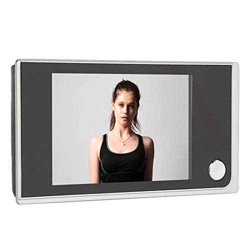 Digital Timbre de Puerta, 120 ° Angular Rango Visible+24 Horas Monitoreo Visor de Mirilla, Pantalla LCD a Color de 3.5 Pulgadas, para el Control Visual de la Cámara Táctil