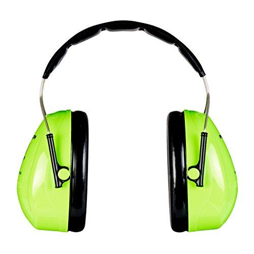 3M Peltor Optime II Kapselgehörschutz, Kopfbügel, Hi-Viz, SNR 31 dB, hohe Sichtbarkeit, 1 Stück, grün