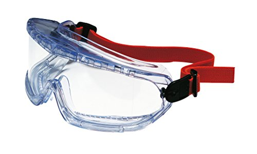 Honeywell 1006192 V-Maxx Indirect Ventilation Goggle Textile Strap Clear PC Anti-Scratch Lens