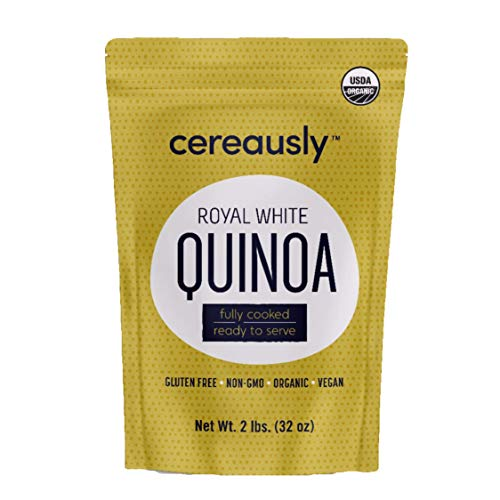 CEREAUSLY Fully Cooked Organic White Quinoa | 2 Lb | Ready to Eat | Royal Bolivian | Non-GMO | Gluten-Free | Vegan