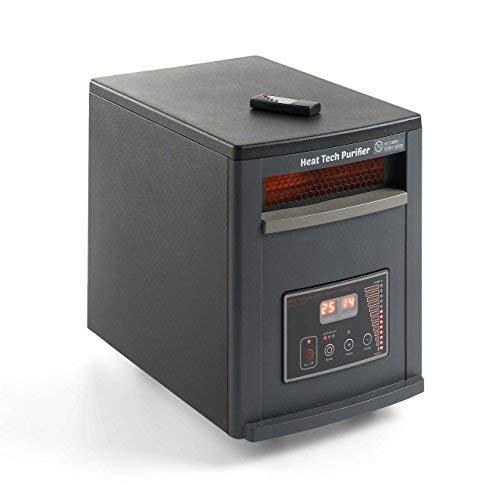 ECODE Calefactor purificador eléctrico con Mando y Modo Ahorro en calefacción. 1500W-750W