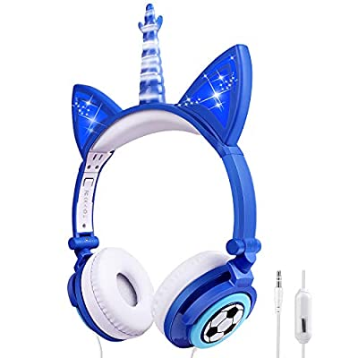 Unicorn Kids Headphones, 3.5mm Aux Jack and 85d...