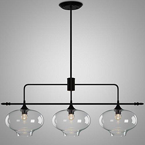 HJR-Pendelleuchten Kristall Zwiebel gerade Reihe 3 Kronleuchter Restaurant Lichter minimalistischen Nordic kreative Konferenztisch Lampen 116x130cm A+
