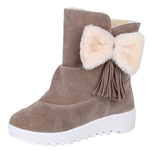 Beladla Botas De Mujer Invierno Nieve Invierno Ocio Arco Nieve Botas Navidad Zapatos De Plataforma Mantener Caliente Botas De Nieve Zapatos De Mujer