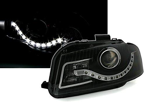 Eagle Eyes Scheinwerfer Set in Klarglas Schwarz, mit LED Tagfahrlicht Optik
