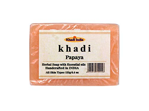 Khadi Papaya Soap (Pack of 1) 125gm by Eco aurous