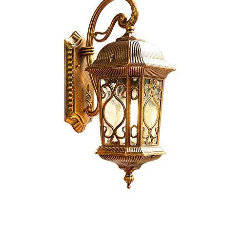 Luz de pared de época clásica lámpara de pared tradicional Linternas Europea Villa Jardín impermeable al aire libre apliques de la pared exterior for Path Valla patio excepcional noche de la pared mon