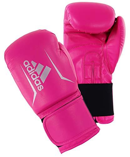 adidas Erwachsene Speed 50 Boxhandschuhe, pink/Silber, 8 oz