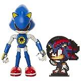 SONIC Figura de acción Metal Sonic (tamaño 10 cm) articulada y con Accesorio, Coleccionable