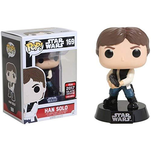 Funko Pop Han Solo 169 Star Wars - Figuras de 9 cm 2017 Galactic Convention Exclusive