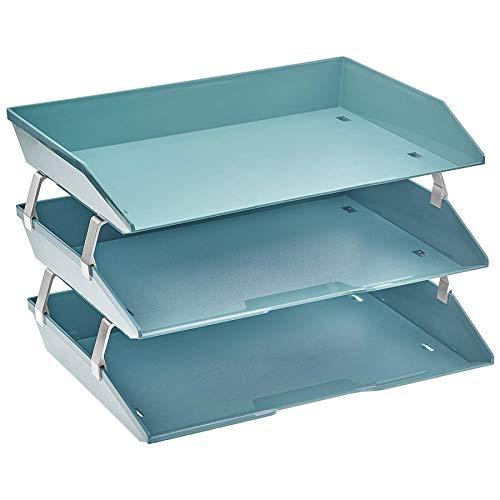 Acrimet Facility Briefablage dreifach Querformat Design (A4 format) (Grün)