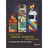 FUNDAMENTALS OF METRIX ANALYSIS WITH APPLICATIONS, SAFF [Paperback] WILEY INDIA