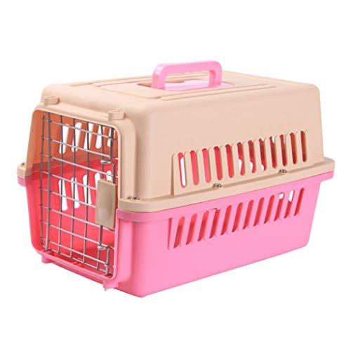 Jlxl transportbox voor honden, huisdierverzorging, kattendrager, reizen, auto, draagbaar, luchtvaart, drager, metalen deur veiligheidsblokkering, filter natuursekt