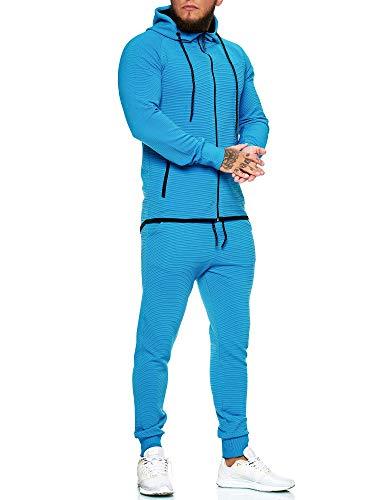 OneRedox | Herren Trainingsanzug | Jogginganzug | Sportanzug | Jogging Anzug | Hoodie-Sporthose | Jogging-Anzug | Trainings-Anzug | Jogging-Hose | Modell JG-1423 Türkis M