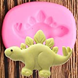 ZPZZPY DIY Baby Birthday Cake Decoration Tool Dinosaur Silicone Mold Fudge...