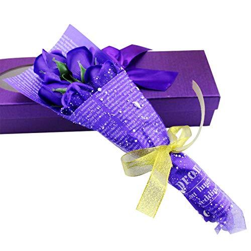 Huaduo Sztuczne kwiaty róży damskie, ręcznie robione kwiaty, pudełko na prezent, bukiet zrób to sam, mydło, prezent na ślub, na Dzień Matki, Dzień nauczyciela, Walentynki