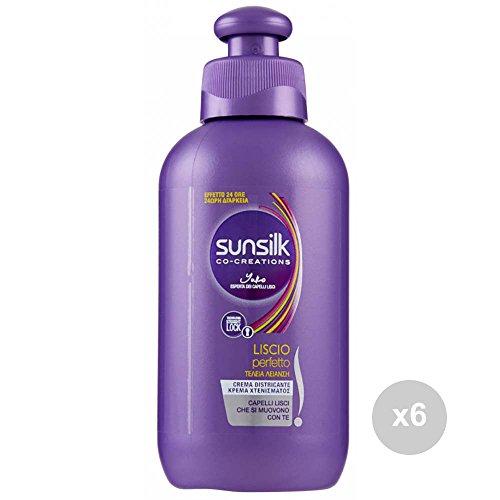 Sunsilk Set 6 Crema districante Liscio Perfetto ml 200 Cura dei Capelli, Multicolore, Unica