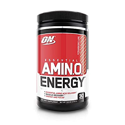 Optimum Nutrition Amino Energy - Pre Workout with Green Tea, BCAA, Amino Acids, Keto Friendly, Green Coffee Extract, Energy Powder - Strawberry Lime, 30 Servings