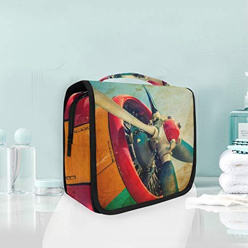 Bolsa de aseo de avión Galaxy Science portátil colgante grande cosmético maquillaje accesorios de viaje organizador para hombres y mujeres (18.5x9.0x4.0inches)