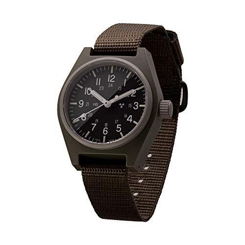 Marathon ww194004-sg-ste Swiss Made Reloj de Campo ejército Militar con el Tritio y Cristal de Zafiro