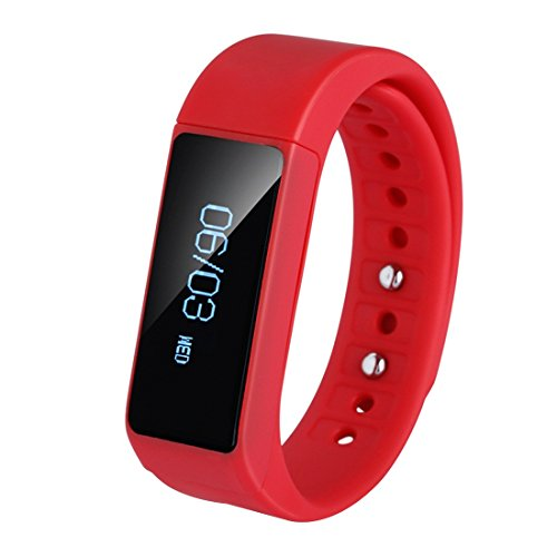 i5-plus Sports Bildschirm Fitness Tracker Armband Sleep Monitor Smart Watch Rot