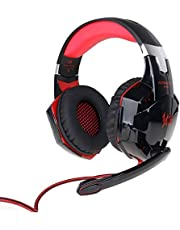 G2000 Stereo Gaming Headphones with Noise-reduction Mic for PS4 Xbox One PC Laptop Mac iPad iPod-Red