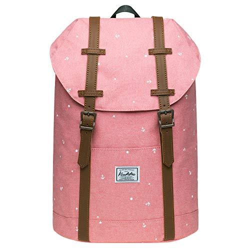 KAUKKO Rucksack Damen Schön und Praktisch Daypack für Ausflüge, Uni, Schule mit 10