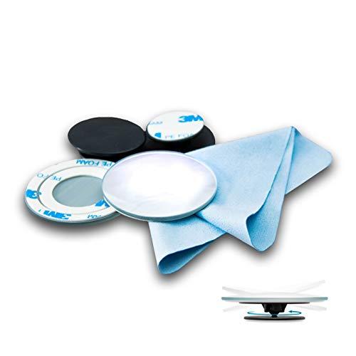 Premium Toter Winkel Spiegel - inklusive kostenloses Reinigungstuch - hochwertiger Sicherheitsspiegel ideal als Zusatzspiegel - 360 Grad einstellbarer Fahrschulspiegel für jedes Auto geeignet(2 Stück)