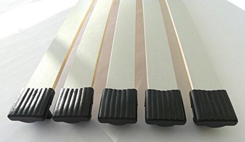 BOSSASHOP.de 10er Paket Kappen zur Befestigung von Leisten im Lattenrost (schwarz, 10x35mm) | 1001