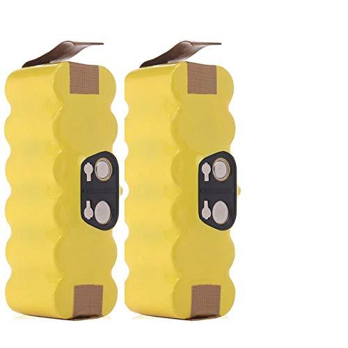 2X Shentec 14.4V 4800mAh Ni-MH Batería para iRobot Roomba 510 520 530 531 532 533 535 540 545 550 552 560 562 570 580 581 585 595 600 610 620 630 650 660 700 760 770 780 790 800 870